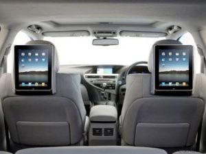 tablets in car holders