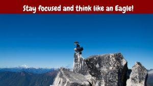 Man focusing like an eagle.